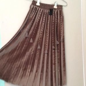 Mauve Korean Knee Length Skirt